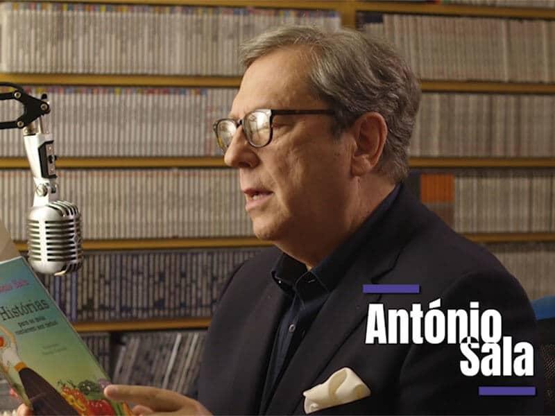 Antonio Sala a ler o seu livro na AudicaoActiva