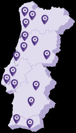 mapa de lojas AudiçãoActiva