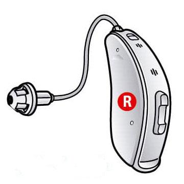aparelho auditivo direito
