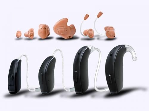 Vários modelos de aparelhos auditivos da AudiçãoActiva